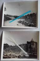 1917 HAM La Ville Et Le Chateau Détruits Et Le Seul Arbre Restant Dans La Cour Poilus Tranchées Ww1 1914 1918 3 Photos - Guerre, Militaire