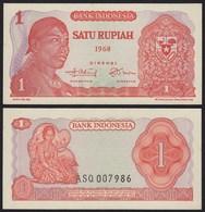Indonesien - Indonesia 1 Rupiah Banknote1968 Pick 102 UNC (1)  (21436 - Banknoten