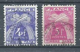 France Timbres-taxe YT N°84-85 Gerbes Timbre-taxe Oblitéré ° - 1859-1955 Used