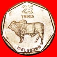 · ZEBU (1998-2009): BOTSWANA ★ 25 THEBE 1998! LOW START ★ NO RESERVE! - Botswana