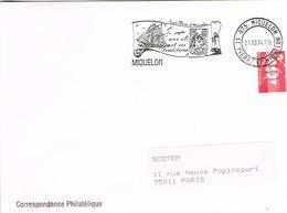 France Cachet Flamme Saint Pierre Et Miquelon Voilier Navire Mouette Timbres Marianne Surcharge 1994 BE - Marcophilie (Lettres)