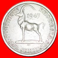 ~ ANTELOPE: SOUTHERN RHODESIA ★ 2 SHILLINGS 1947! LOW START ★ NO RESERVE! - Rhodesië