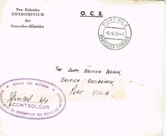 Nouvelles Hebrides New Marcophilie Lettre Cover Cachet A Date Port Vila Service Magasins 1972 BE - Altri