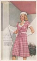 Woman Fashion Summer 1945 Montgomery Wards Catalog Advertisement Notice, C1940s Vintage Postcard - Fashion