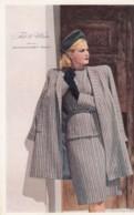 Woman Fashion Fall & Winter 1946 Montgomery Wards Catalog Advertisement Notice, C1940s Vintage Postcard - Fashion
