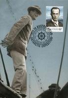"""Entier Postal De 2014 Sur CP Avec Timbre Et Illust. """"Portrait De Douglas Mawson"""" - Oblit. PJ 18 Février 2014"""" - Maximum Cards"""