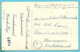 FOTO-Kaart KRIEGSGEFANGENENSENDUNG Van HUY Naar HAMELN - Poststempel (Briefe)