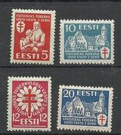 Estland Estonia 1933 Michel 102 - 105 * - Estonie