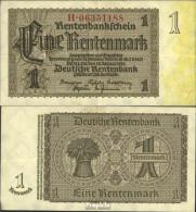 Deutsches Reich Rosenbg: 166c, Firmendruck 8stellige Kontrollnummer Bankfrisch 1937 1 Rentenmark - [ 3] 1918-1933 : República De Weimar