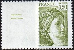 France Sabine De Gandon N° 2121 A  **  Le 3f50 Vert Olive - Variété La Gomme Est Tropicale - 1977-81 Sabine Of Gandon