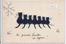 COGNAC- VIVE LES GRANDES FAMILLES DE COGNAC- ILLUSTRATION CHATS- POUI - Cognac