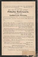 Langdorp, Veerle, 1912, Filicita Gebruurs, Brems - Images Religieuses