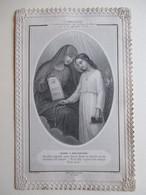 IMAGE PIEUSE - CANIVET - SANTINI - Datée 1881 - Marie à Son Enfant   TBE - Santini