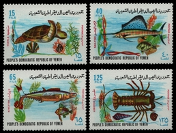 Südjemen 1972 - Mi-Nr. 130-133 ** - MNH - Meeresleben / Marine Life - Yemen