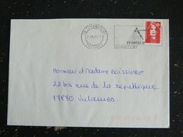 GUYANCOURT - YVELINES - FLAMME DOUBLE CERCLE SUR MARIANNE BRIAT - Annullamenti Meccanici (pubblicitari)