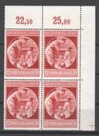 Drittes Reich  , Nr 744 . Postfrischer Viererblock - Ungebraucht