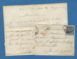 BOUCHES DU RHONE BOITE URBAINE B MARSEILLE ST MARCEL LA VALENTINE 1886 - Marcofilie (Brieven)
