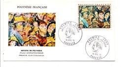 POLYNESIE FDC 1971 ARTISTES POLYNESIENS - MICHOUTOUCHKINE - FDC