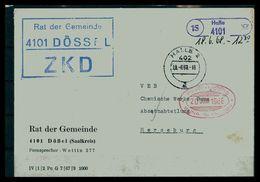 DDR ZKD Dienstbrief 1968 Siehe Beschreibung (205897) - [6] Repubblica Democratica