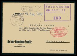DDR ZKD Dienstbrief 1966 Siehe Beschreibung (205898) - [6] Repubblica Democratica