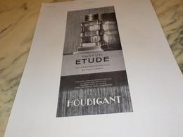 ANCIENNE PUBLICITE PARFUM ETUDE DE  HOUBIGANT 1931 - Parfums & Beauté