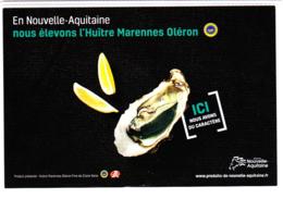 Carte (Dos Totalement Imprimé) Huîtres Marennes Oléron Et Crépinettes, Nouvelle-Aquitaine - Recettes (cuisine)