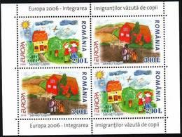 ROMANIA  2006  EUROPA CEPT  S/S-Block I   MNH** - 2006