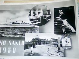 """NAVE-PIROSCAFO-SHIP-BATEAU-BOAT-""""ITALIA NAVIGAZIONE """" CONTE  BIANCAMANO ANNO SANTO N1950  HO7719 - Steamers"""