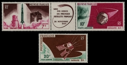Franz. Polynesien 1966 - Mi-Nr. 52-53 & 54 ** - MNH - Raumfahrt / Space - Polynésie Française