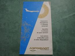 AEROFLOT Soviet Airlines (dépliant 4 Volets) - Advertenties