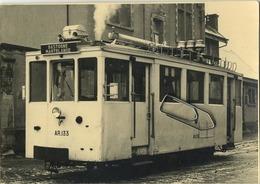 TRAM :  Bastogne - Martelange  1957      : (  Foto Kaart Gevaert  )  15 X 10.5 Cm - Tramways