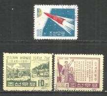 Korea 1961 Used Stamps  Space - Korea, North