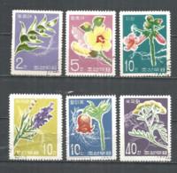 Korea 1967 Used Stamps Flowers - Korea, North