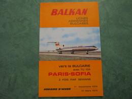 BALKAN - Lignes Aériennes Bulgares - Advertenties