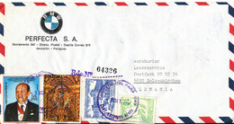 Paraguay Registered Air Mail Cover With BMW Logo Sent To Germany 3-10-1987 With More Topic Stamps - Paraguay