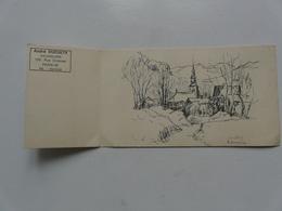 André DUCULTY - Aquarelliste - PARIS : DESSIN DE COMBLOUX 1968 - Vieux Papiers