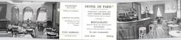 Vieurs Papiers Carte De Visite HOTEL DE PARIS PLACE DE LA GARE CHARTRES MR MME R DESHAYES - Cartes De Visite