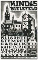 Original-Werbung/ Anzeige 1930 - KLISCHEE / STEMPEL FABRIK KIND - BIELEFELD - Ca. 65 X 100 Mm - Werbung