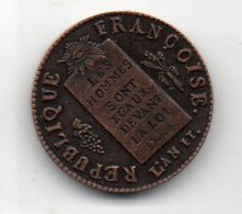 FRANCE : 1/2 Sol 1793 - 1789-1795 Monnaies Constitutionnelles