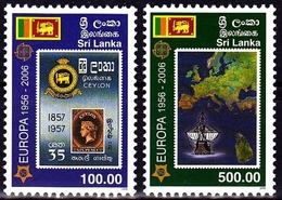 SRI LANKA 2006  EUROPA CEPT - 50th Anniversary EUROPA CEPT  Stamps Set 2 Stamps   MNH** - 2006