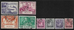 ST LUCIA 1949 UPU SET AND 1951 NEW CONSTITUTION SET  FINE USED Cat £6.75 - Ste Lucie (...-1978)