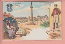 OLD POSTCARD - ADVERTISING SUCHARD - GERMANY - DARMSTADT - LITHO 1900'S - Darmstadt