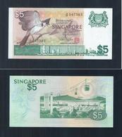 "Banknote - Singapore Bird Series $5 PAPER CURRENCY MONEY ""A"" Prefix (#163) UNC - Singapore"