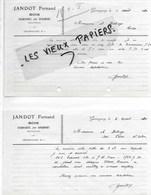 70 - Haute-saône - GERMIGNEY - Facture JANDOT - Bois - 1930 - REF 139B - France