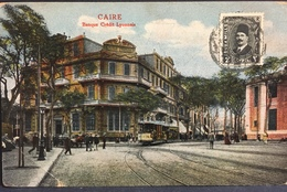 EGITTO, EGYPT........Le Caire, Cairo....The Banque Credit Lyonnais ....1920 Ca. - El Cairo