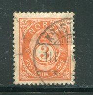 NORVEGE- Y&T N°37- Oblitéré - Used Stamps