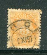 NORVEGE- Y&T N°48(B)- Oblitéré - Used Stamps