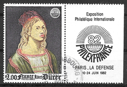 FRANCE 2090a Auto Portrait D'Albrecht Dürer Philexfrance 82  Exposition Philatélique Internationale . - Usati