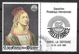 FRANCE 2090a Auto Portrait D'Albrecht Dürer Philexfrance 82  Exposition Philatélique Internationale . - Gebruikt