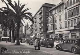 ALBENGA-SAVONA-PIAZZA DEL POPOLO-ANIMATISSIMA-CARTOLINA VERA FOTOGRAFIA VIAGGIATA IL 10-2-1955 - Savona
